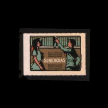 POSTER STAMP New York publishers very OLD pretty #011